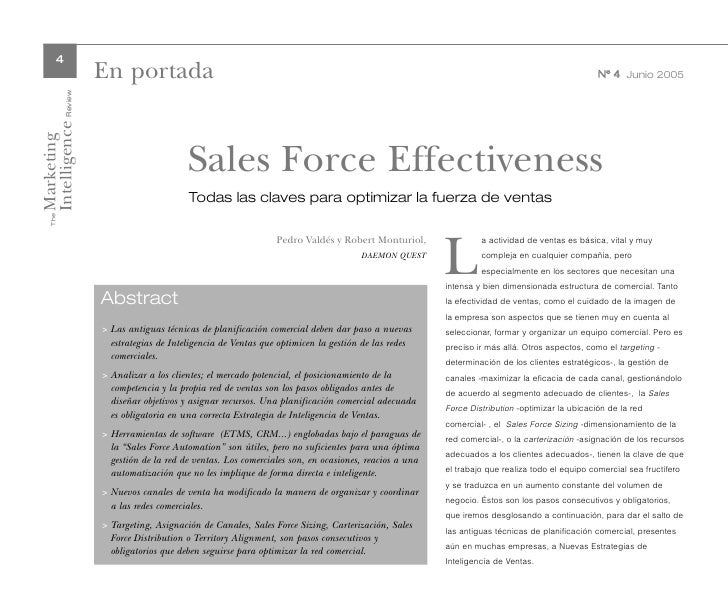 The sales force technology essay