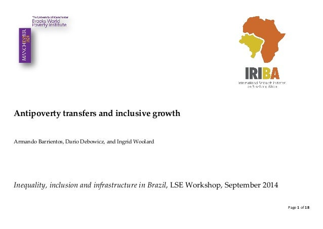 Page 1 of 18  Antipoverty transfers and inclusive growth  Armando Barrientos, Dario Debowicz, and Ingrid Woolard  Inequali...
