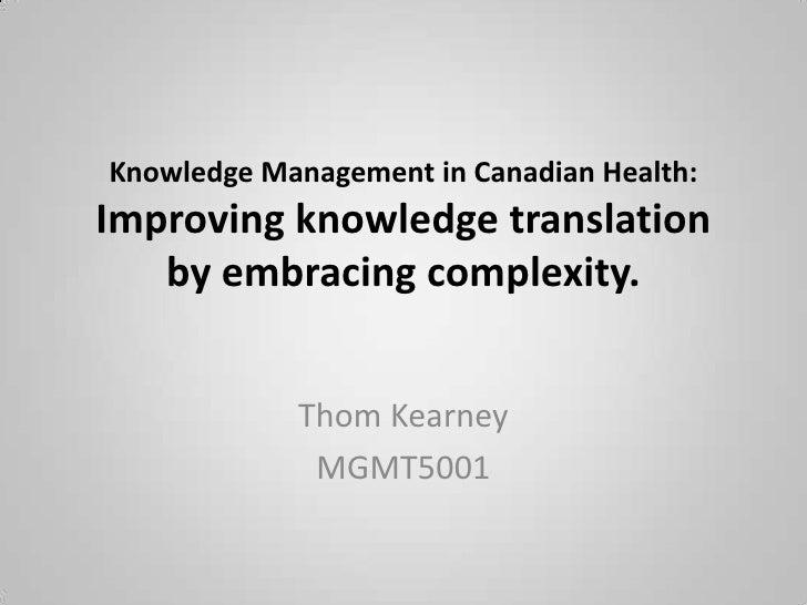 Knowledge Translation and Social Technologies Slide 2
