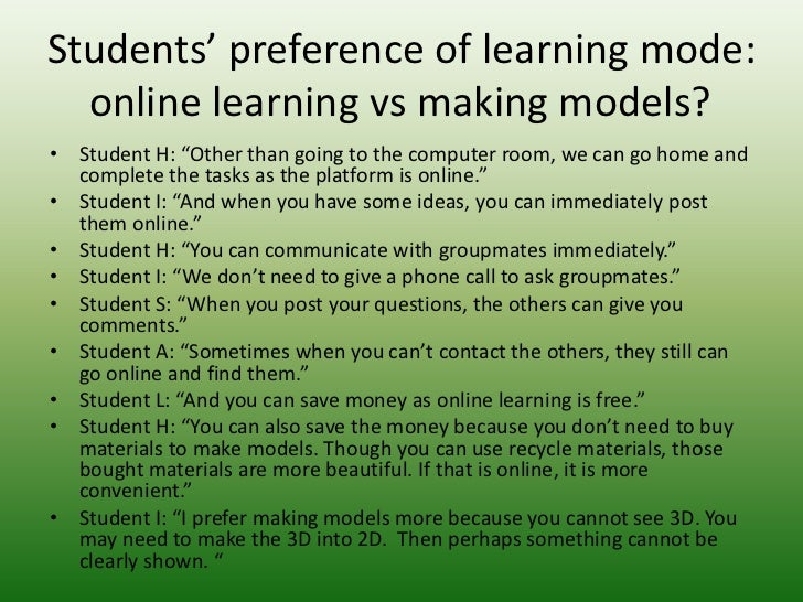 e learning experiences of hong kong students Towards a better blended learning: experiences of adult learners in hong kong 405 in the following sections, the development of e-learning activities introduced into.
