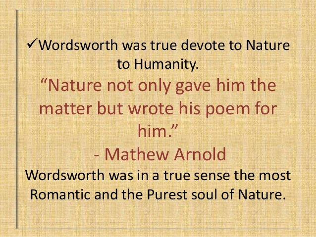 wordsworths and keats views on human connection with nature Find free a thing of beauty by john keats essays  of these is their respective views on naturewhich seems to range  glance 7 each human heart and.