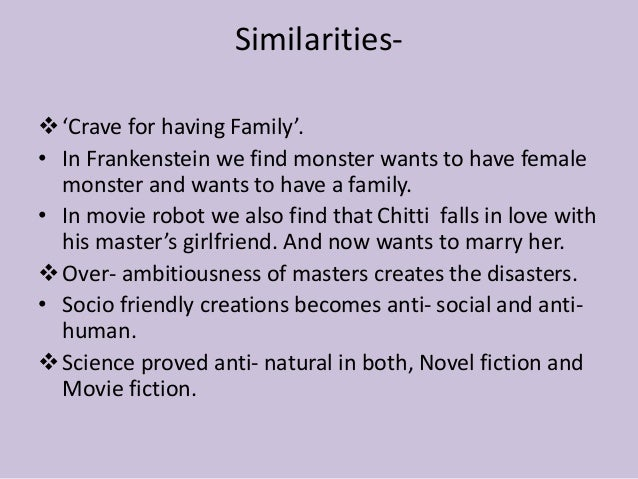the difference between frankenstein novel movie There are more differences between the movie and book than there are similarities in the novel, frankenstein's name is victor instead of henry.
