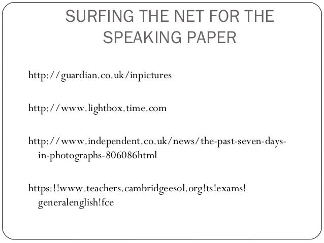 Paper 5 speaking, part 2 Slide 2
