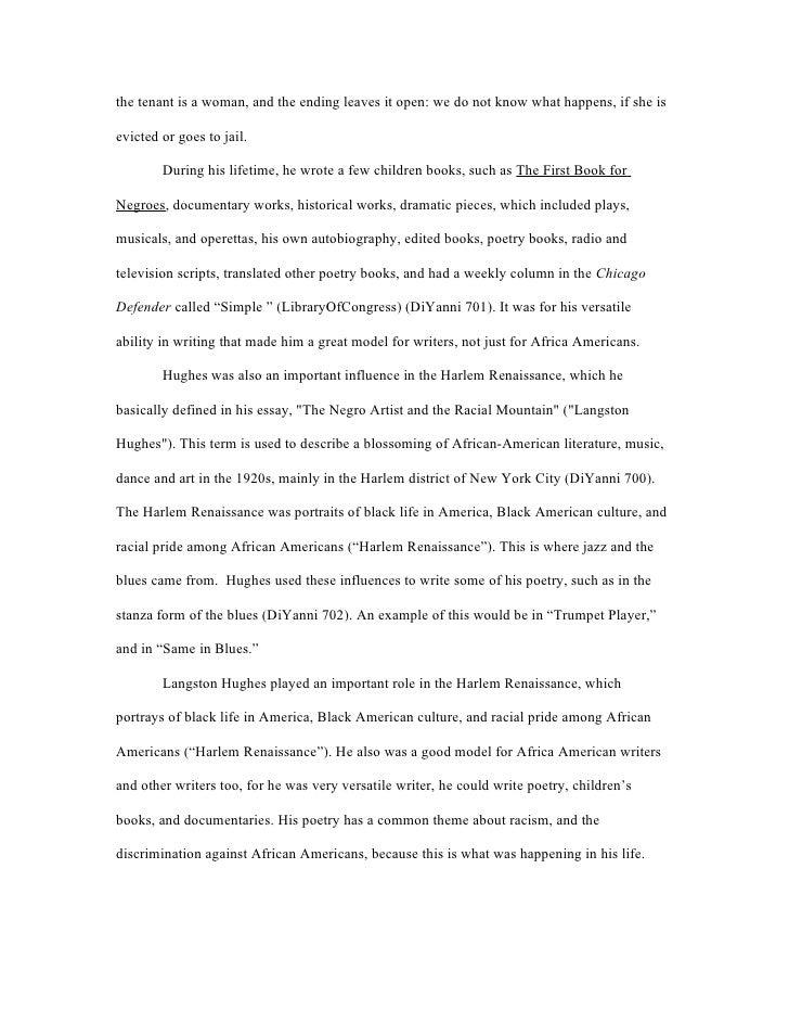 harlem renaissance poetry analysis