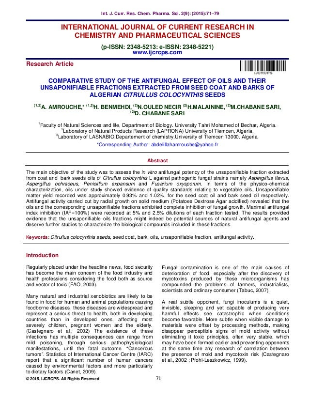 COMPARATIVE STUDY OF THE ANTIFUNGAL EFFECT OF OILS AND THEIR