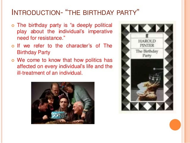 Paper 9 Political Reading of The Birthday Party