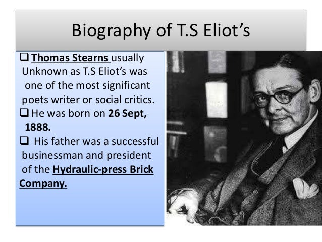 essay the metaphysical poets by ts eliot Ts eliot essay the metaphysical poets ¿por qué es importante la higiene interdental essay on international workers day aqa biology unit 5 essay structure.