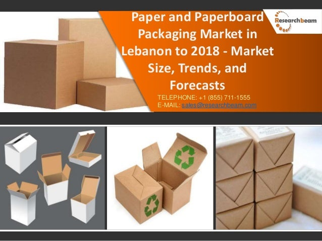 Paper and paperboard packaging market in lebanon to 2018
