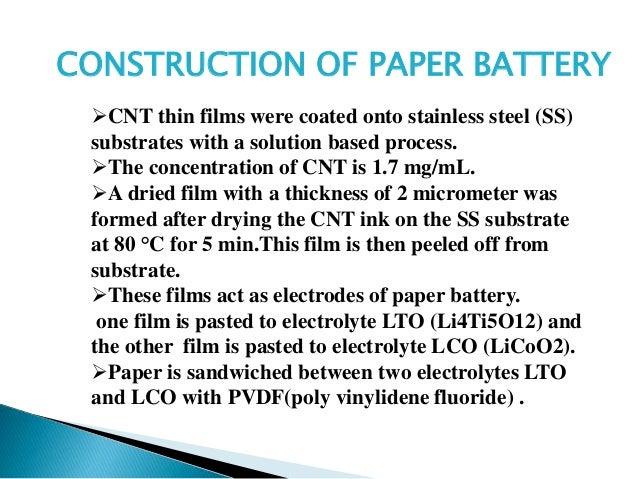 Battery nanotechnology essay
