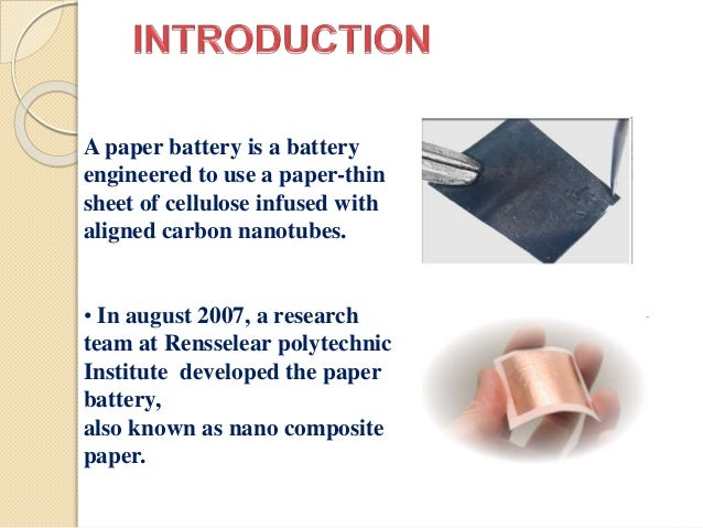 battery research papers Thin,flexiblesecondaryli-ionpaper batteries liangbing hu vice of the li-ion paper battery prior to encapsulation and cell testing although.
