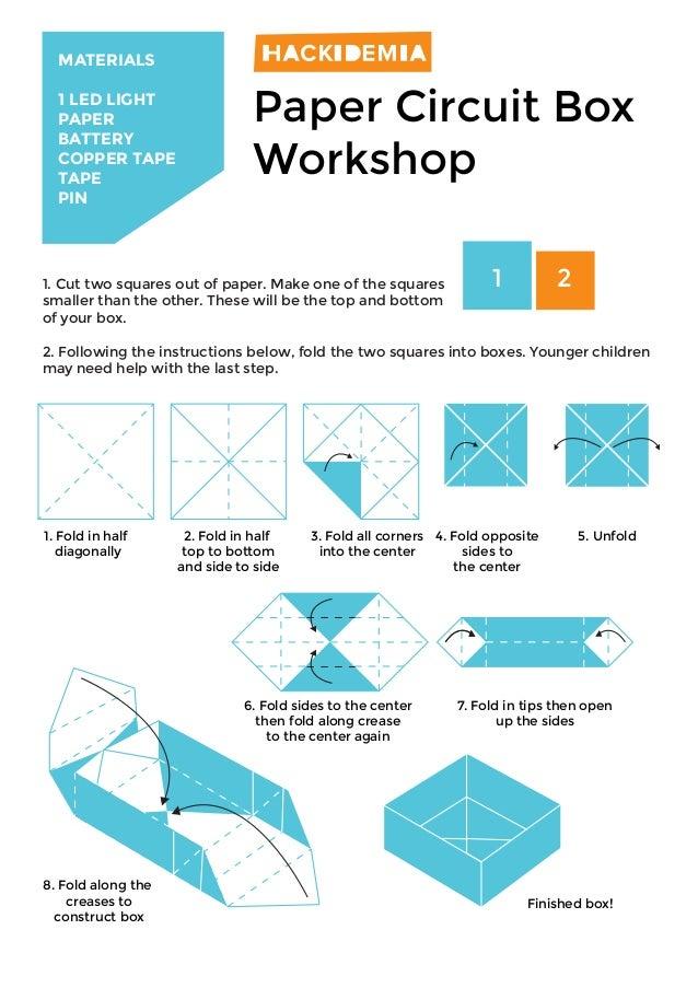 Paper - circuit workshop to make a box