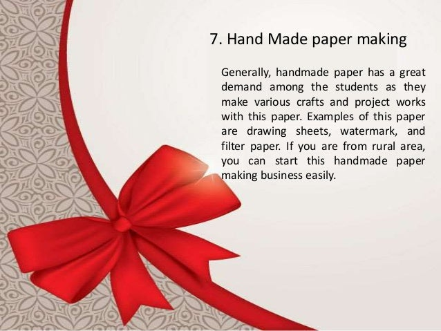 Paper Business Ideas Low Cost Small Manufacturing Business