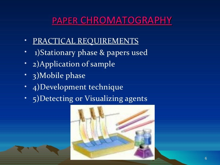 a paper chromatography is useful for