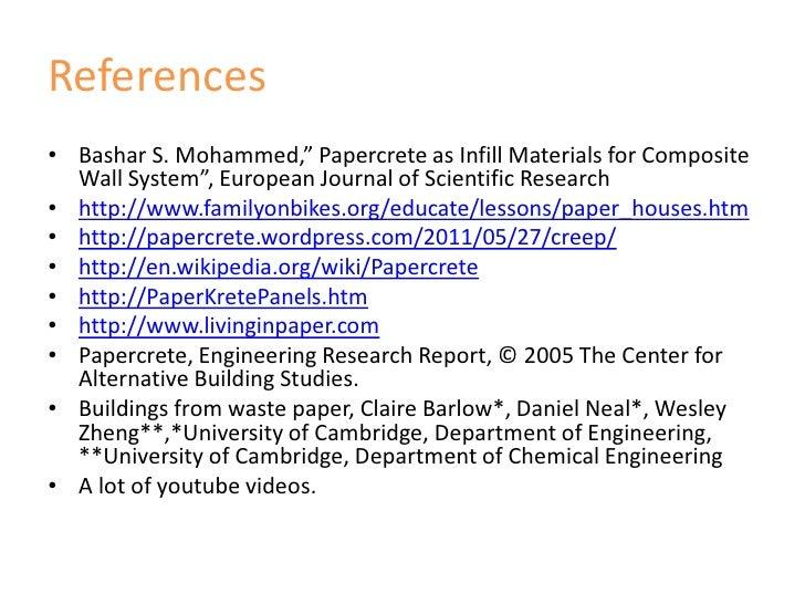 Papercrete Seminar Report Pdf