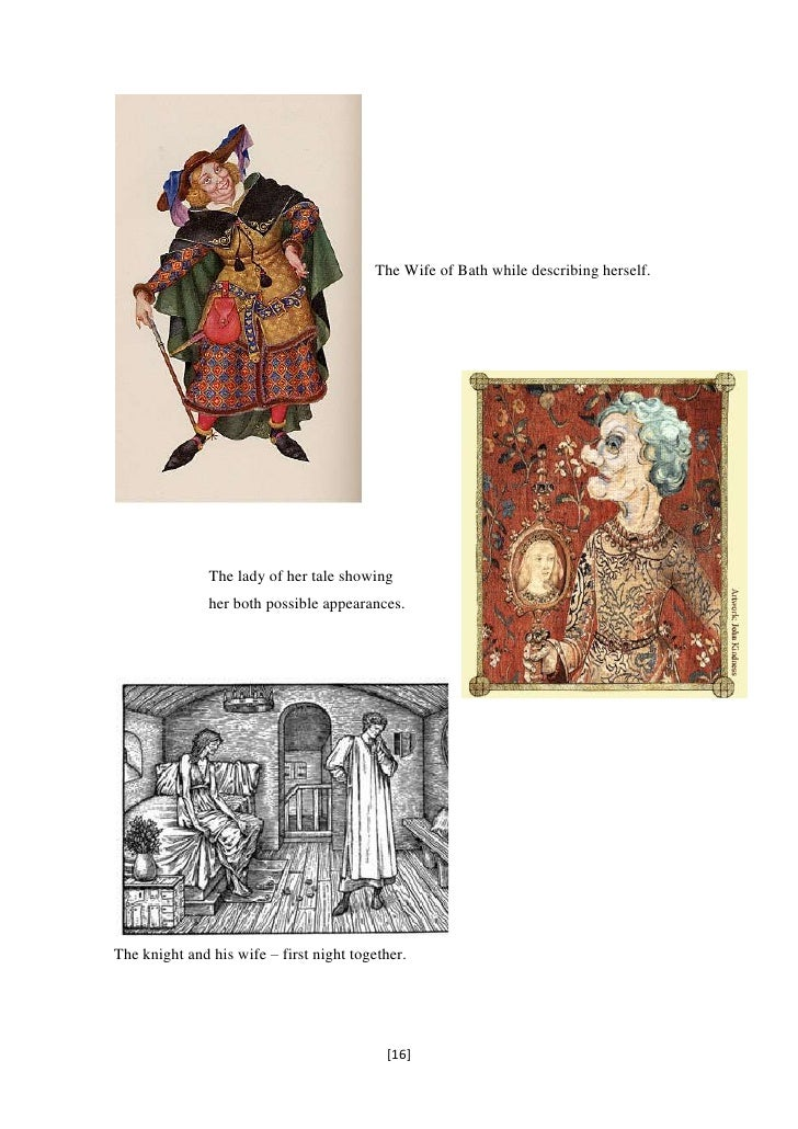 Comparison between the knight and the knight from the wife of bath