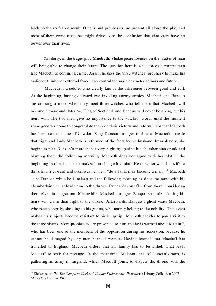 an analysis of the character of macbeth and his actions in the play macbeth by william shakespeare The progressive character of macbeth shakespeare, william macbeth: stages of plot development in macbeth time analysis of the action in macbeth.