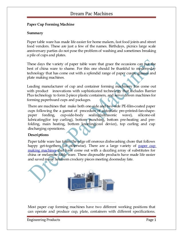 paper cup machine manufacturer