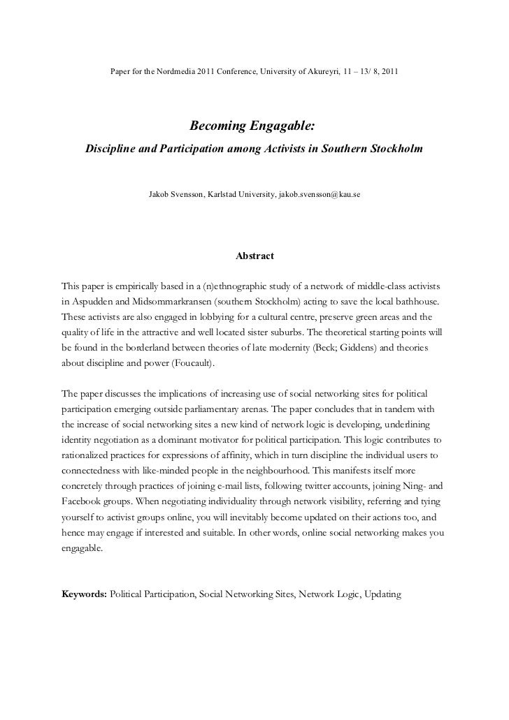 Paper for the Nordmedia 2011 Conference, University of Akureyri, 11 – 13/ 8, 2011                                   Becomi...
