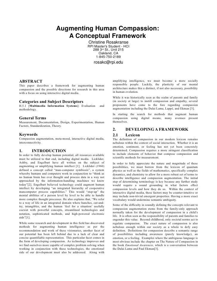 Augmenting Human Compassion:                                 A Conceptual Framework                                       ...