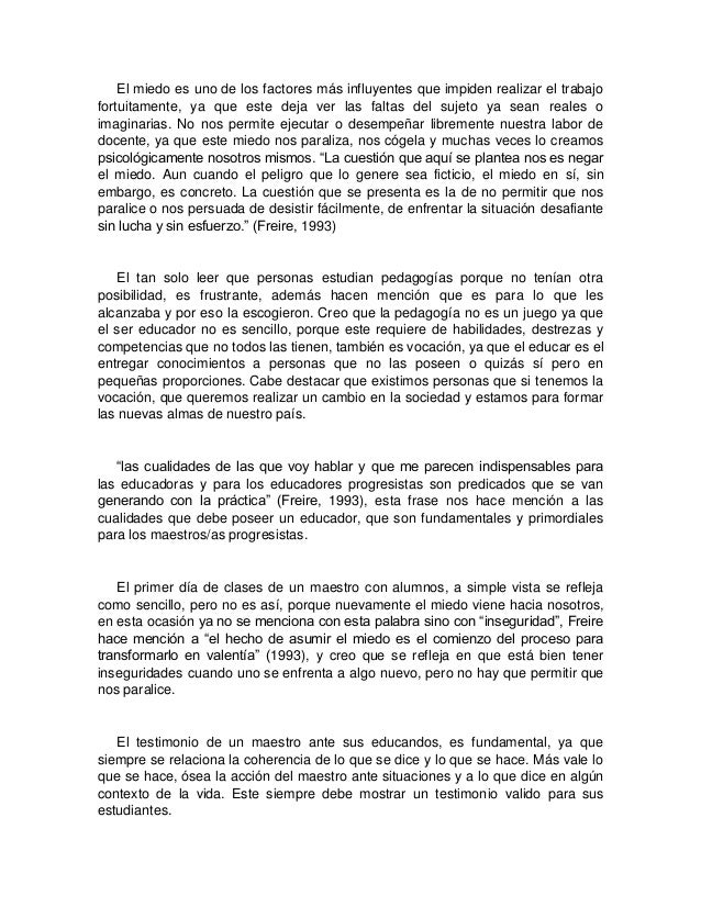 paulo freire essay Educational practice, informal education - paulo freire's ideas on education.