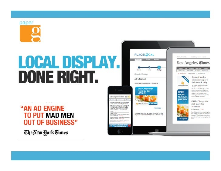 CHEESEBOY	  CASE	  STUDY	   Cheeseboy Turns to PaperG to Power Local Display Ads
