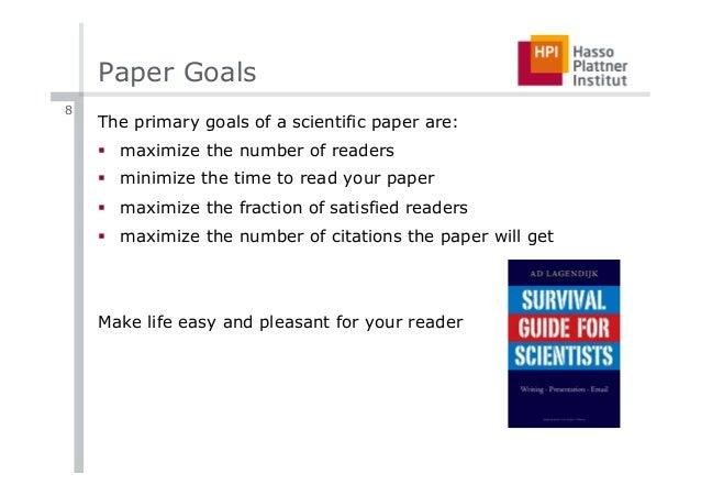 goals paper