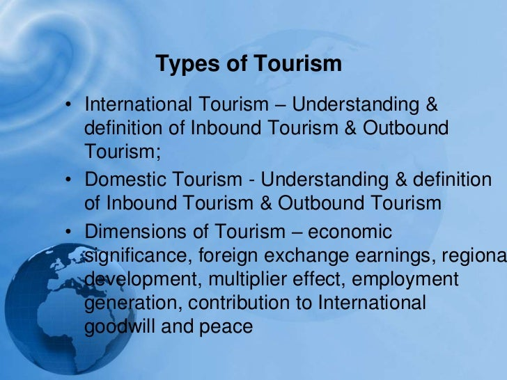 what is tourism industry pdf