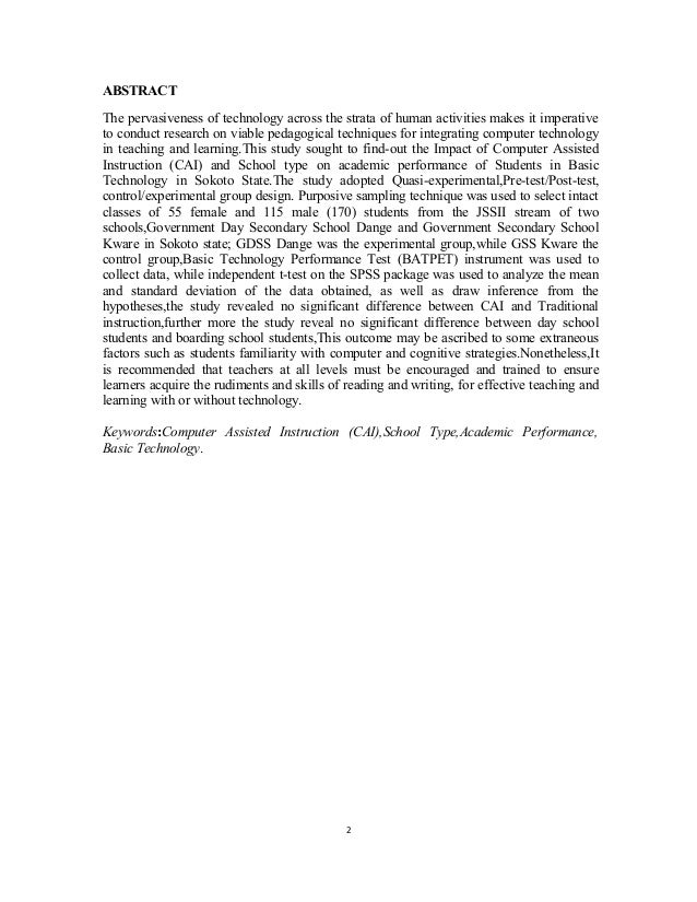 statement of the problem in effects of academic performance of students A case study of student and teacher relationships and the effect on student learning by patricia brady gablinske a dissertation submitted in partial fulfillment of the.