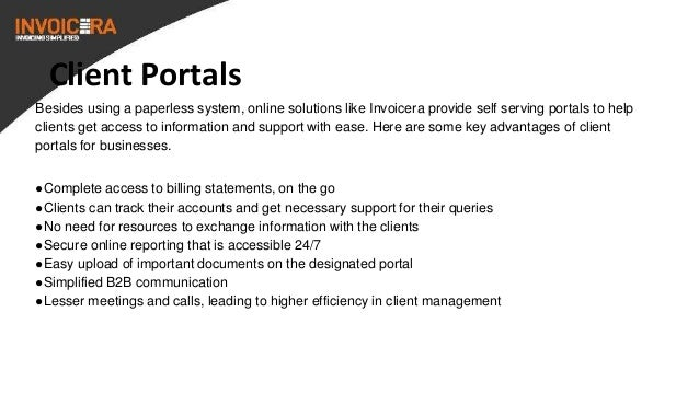 Paperless Invoicing And Client Portal With Invoicera - Benefits of using the online invoicing portal