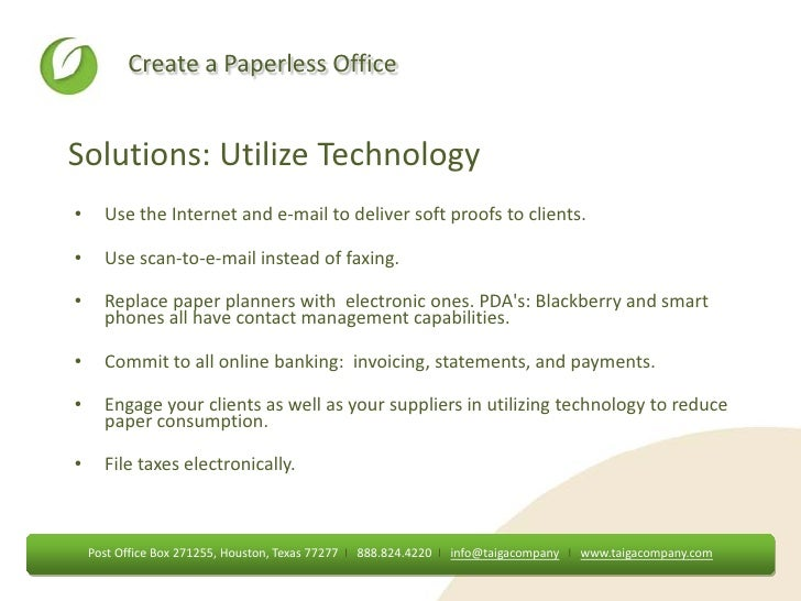 Paperless office presentation - Post office bank statements ...