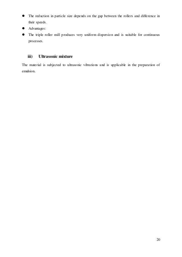 Paperwork] Mixing - Pharmaceutical Engineering