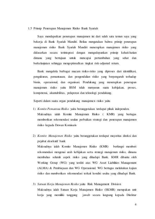 Paper Manajemen Risiko Syariah