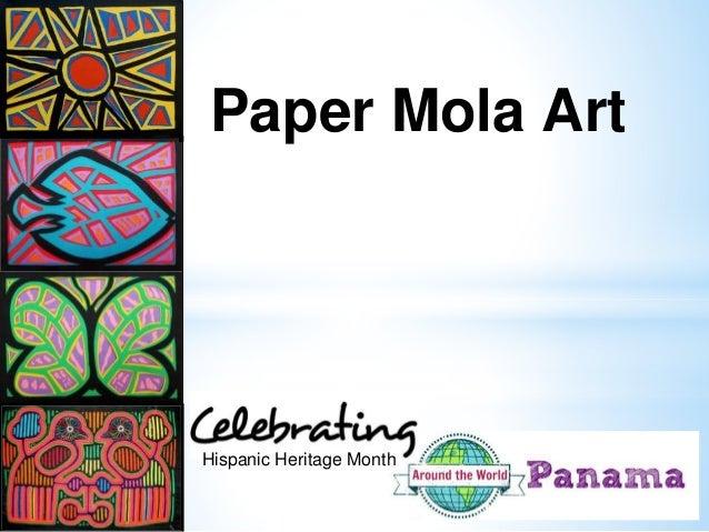 paper mola art hispanic heritage month