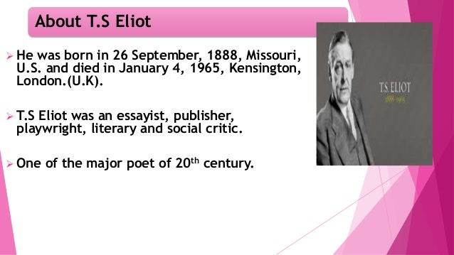 T.S Eliot's Tradition and Individual Talent Slide 3