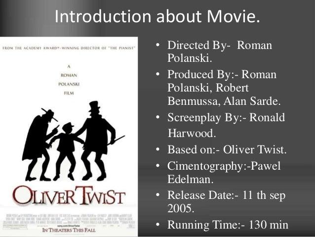 Oliver twist:- Book v/s Movie