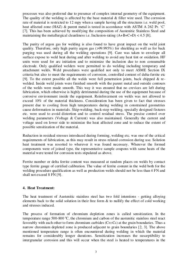 Paper on Forming, Welding & Heat treatment of SS equip & component fo… - 웹