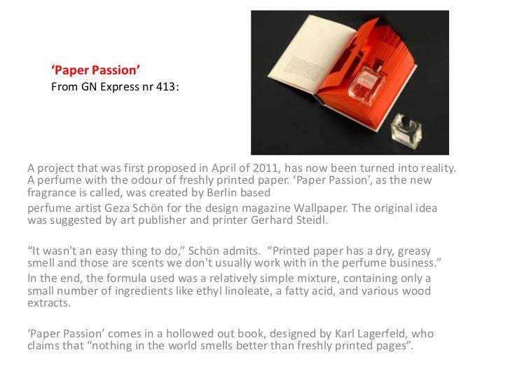 'Paper Passion'    From GN Express nr 413:A project that was first proposed in April of 2011, has now been turned into rea...