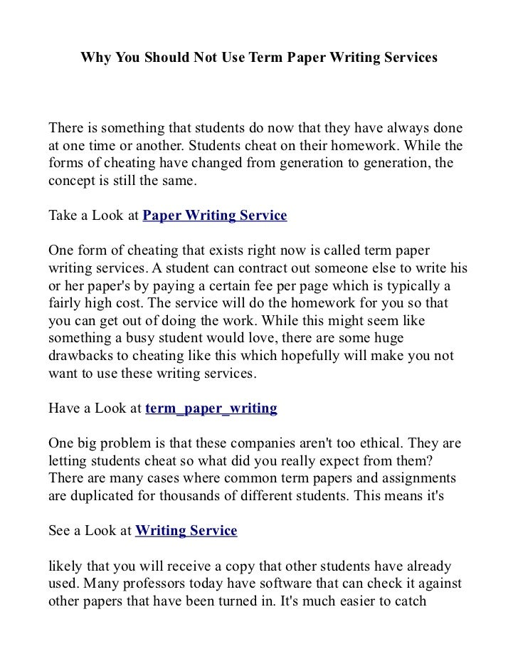research paper writing services are always