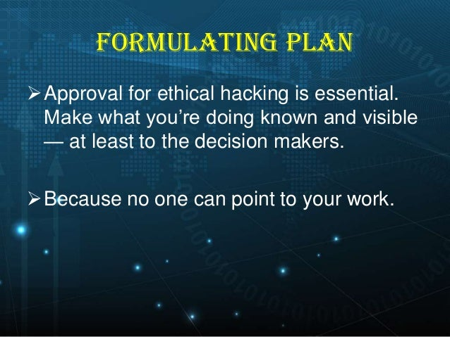 Ethical hacking essay