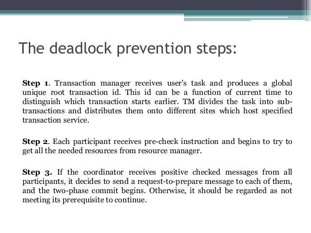 Deadlock prevention algorithms