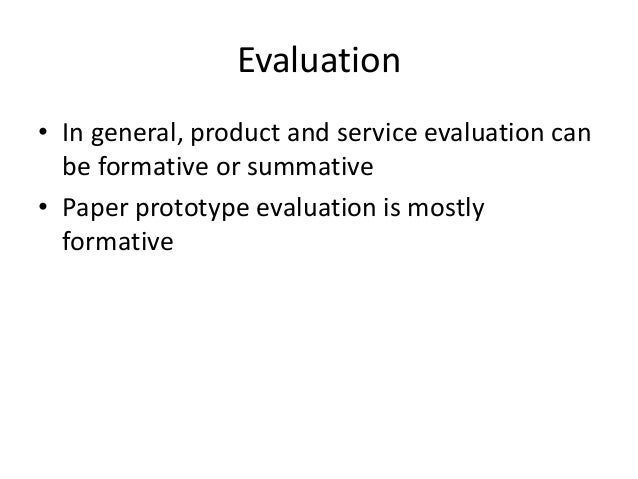 paper prototype evaluation evaluation