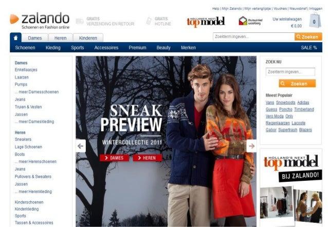 Maak een prototype voor Zalando Schoenen / Laarzen bestellen vanaf de website zalando.nl en deze in de winkelmand plaatsen...