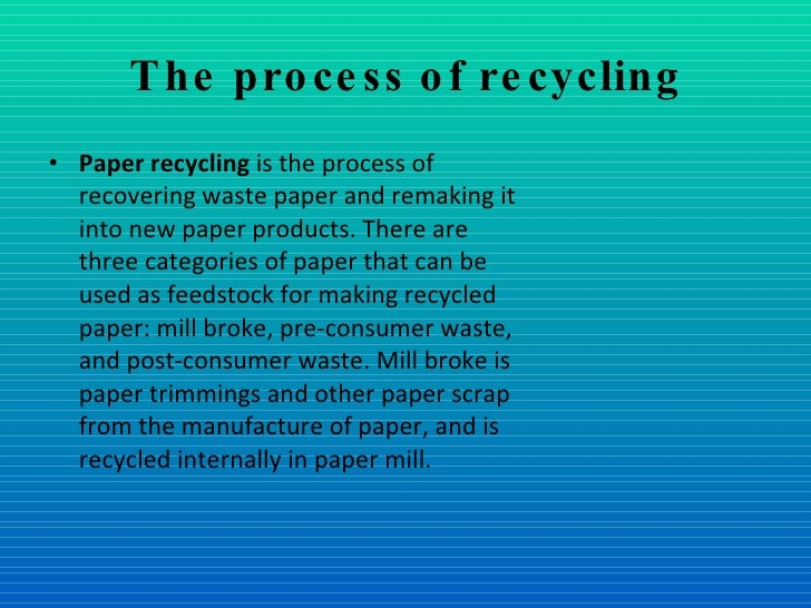 Paper recycling essay