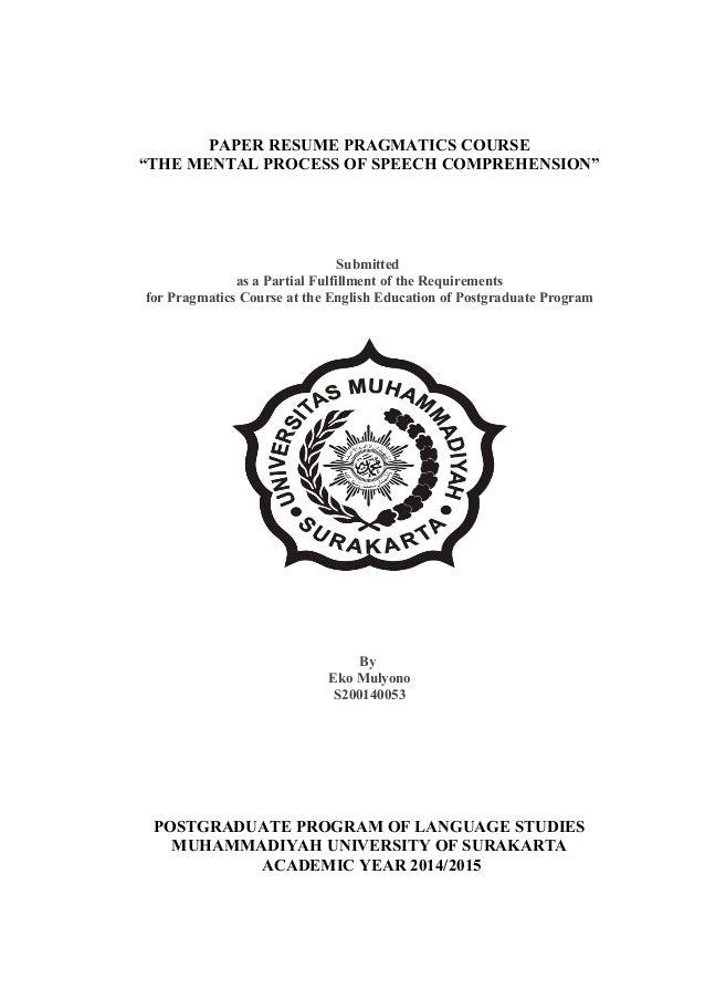 mental processes paper