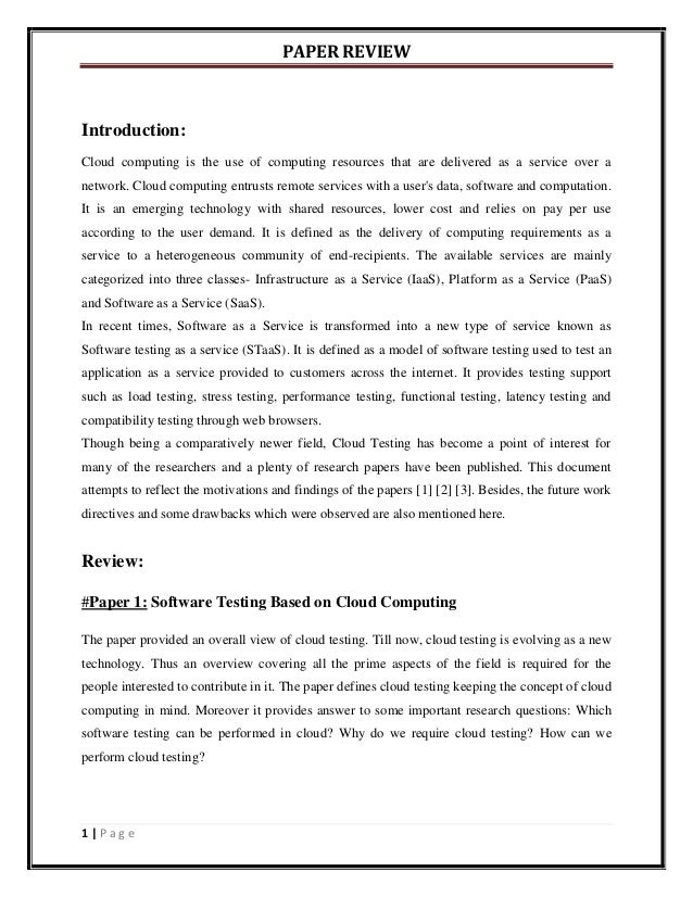 Cloud Computing Research Paper Springer 201