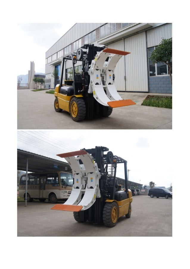 Clamp Forklift Controls : Paper roll clamp
