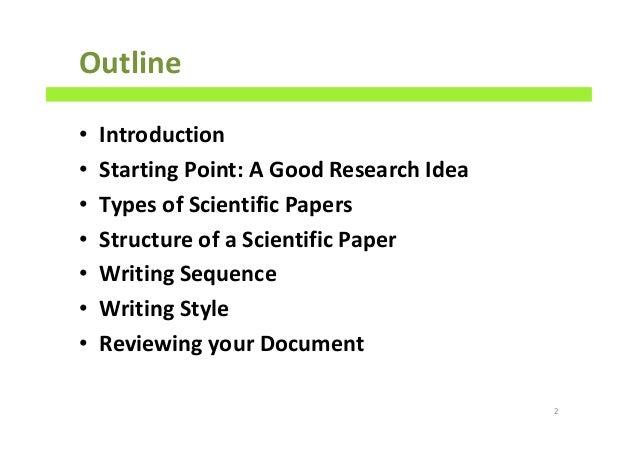 scientific research paper outline