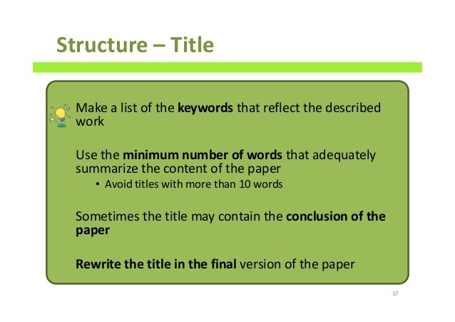 Scientific paper style guide