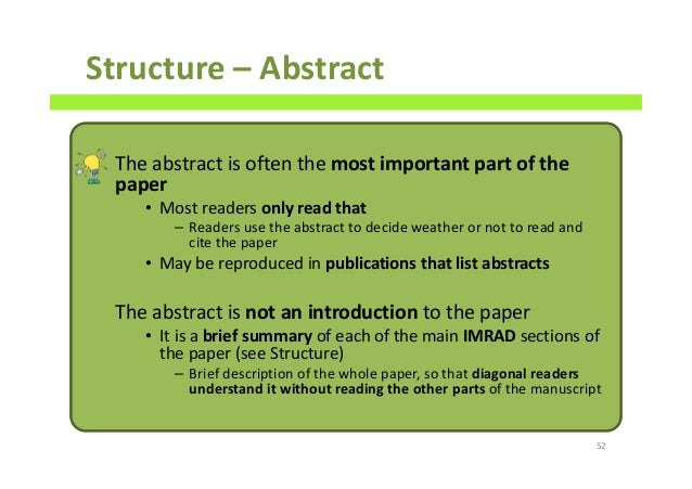 Scientific paper writing abstract definition