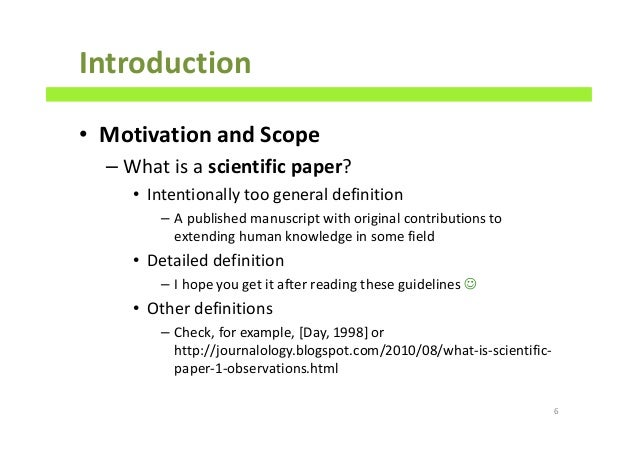 how to write a scientific paper ppt